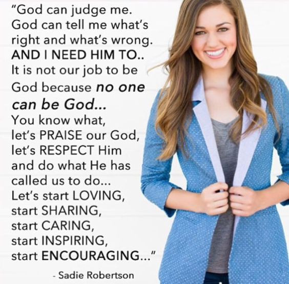 Sadie Robertson Quotes  Models Role models and Words on Pinterest