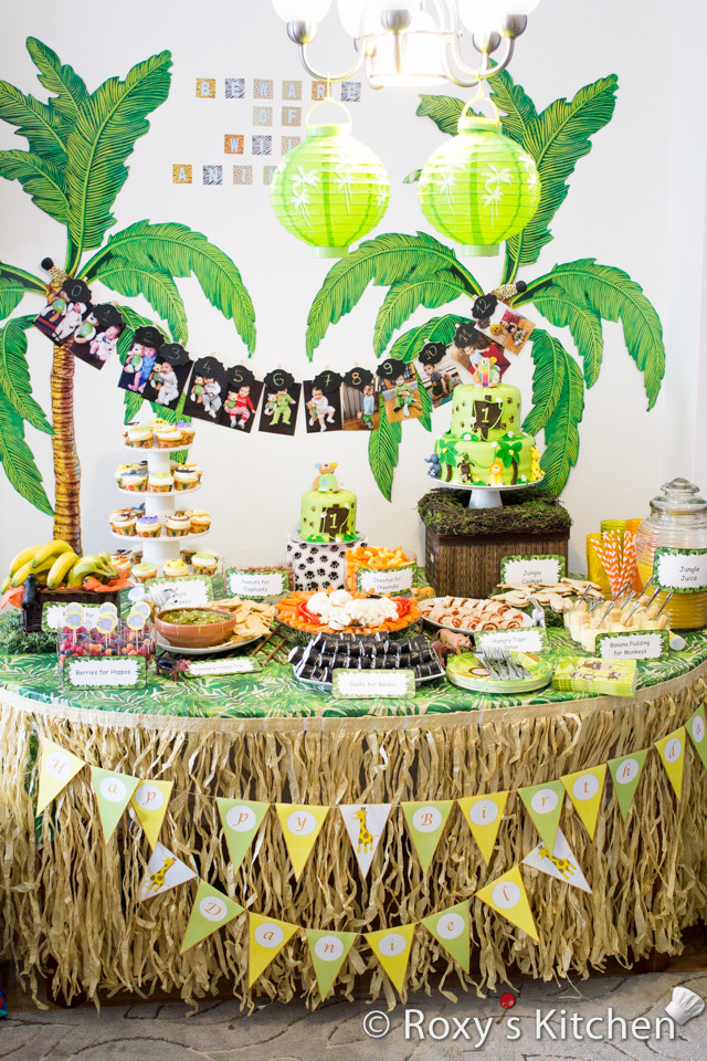 Safari Birthday Party Decorations  Safari Jungle Themed First Birthday Party Part III – DIY