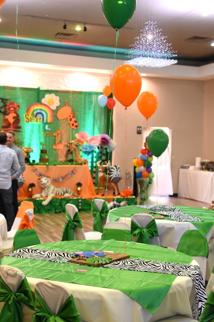 Safari Birthday Party Decorations  Kara s Party Ideas Jungle Safari Birthday Party