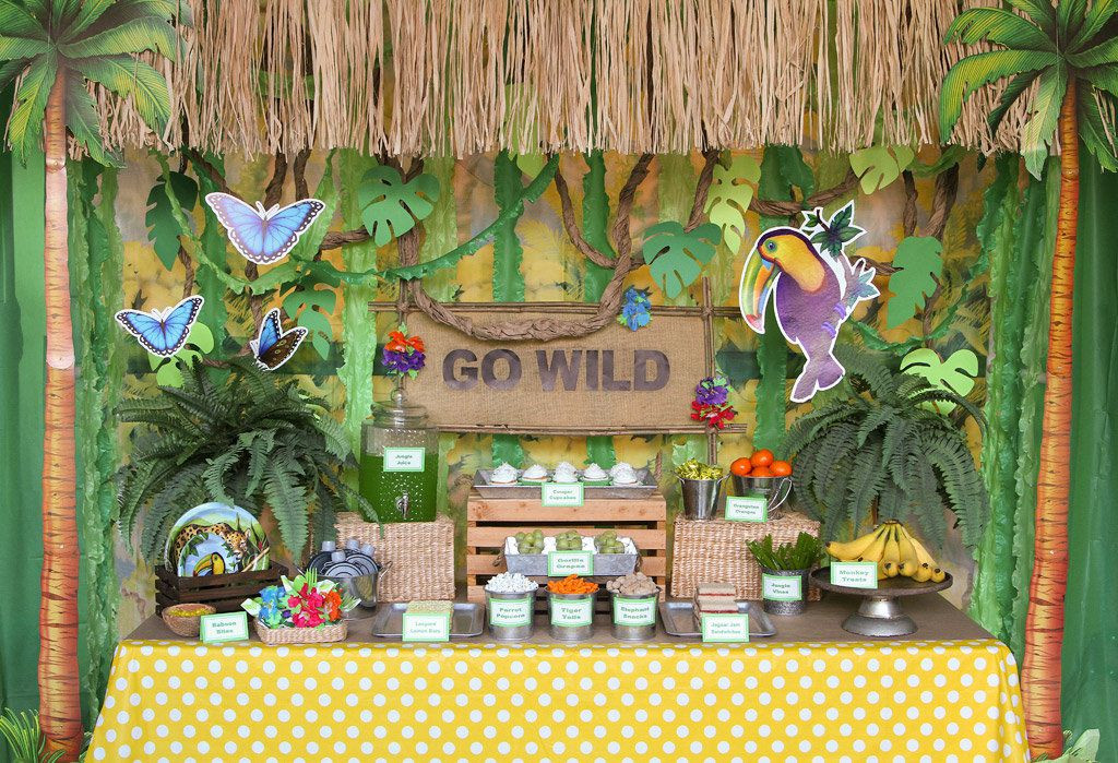 Safari Birthday Party Decorations  Jungle Party Ideas
