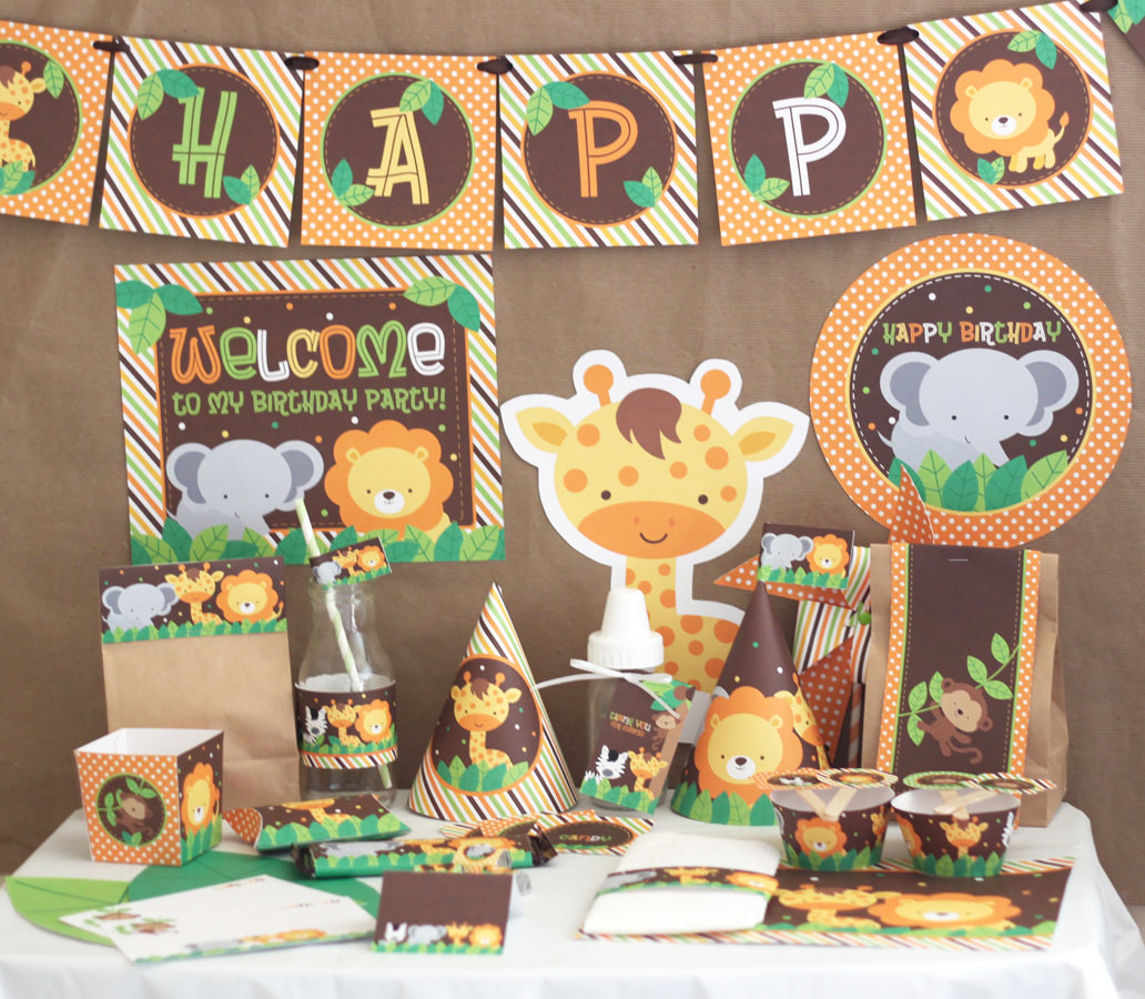 Safari Birthday Party Decorations  Jungle Safari Birthday Party Decorations Jungle Animals
