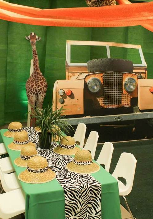 Safari Birthday Party Decorations  Safari Table Decorations on Pinterest