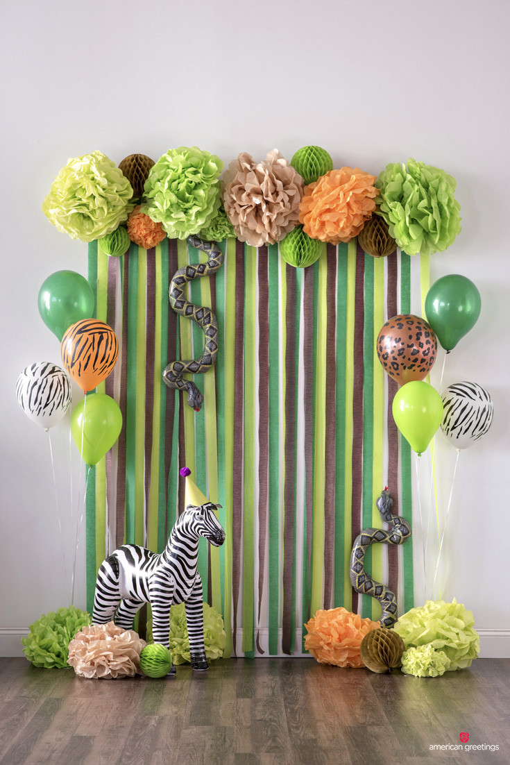 Safari Birthday Party Decorations  Jungle Birthday Party Ideas Inspiration
