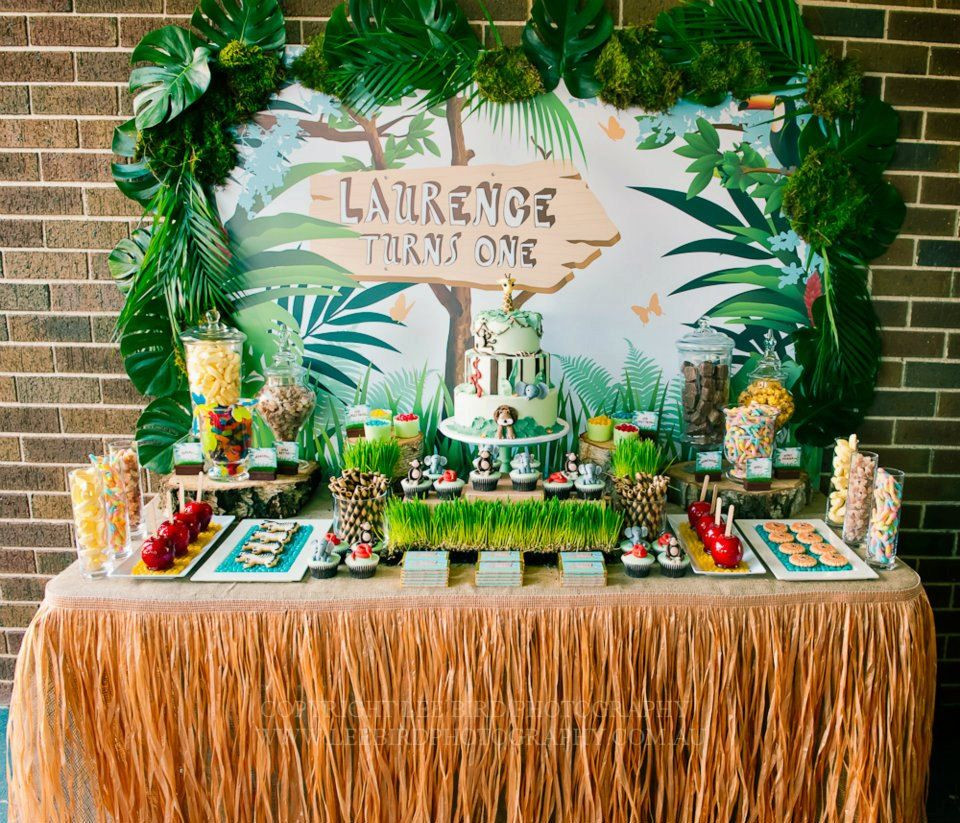 Safari Birthday Party Decorations  Jungle Party Backdrop