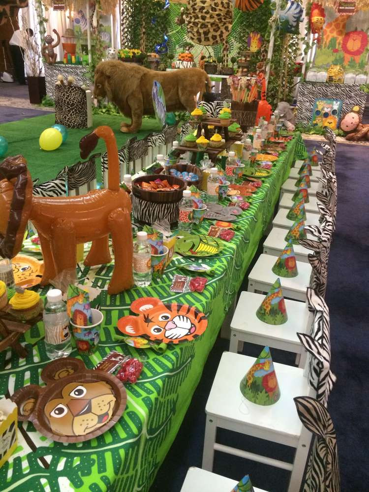 Safari Birthday Party Decorations  Jungle Safari Birthday Party Ideas 9 of 16