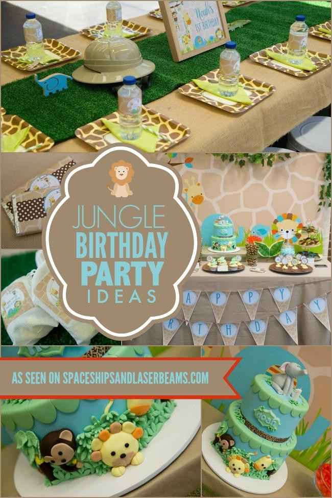 Safari Birthday Party Decorations  A Little Boy s First Jungle Safari Birthday Party