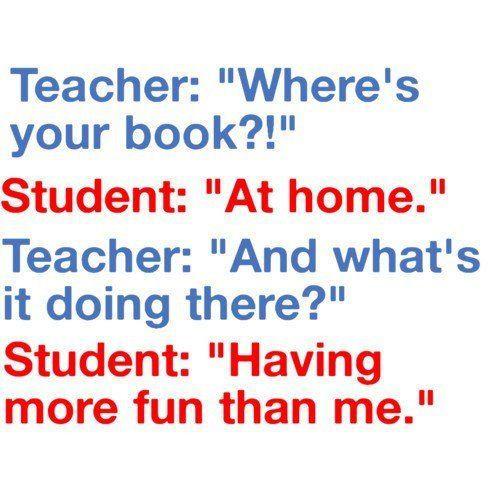 School Quote Funny  Funny Joke For Teachers Lolz Conversation Between Teacher