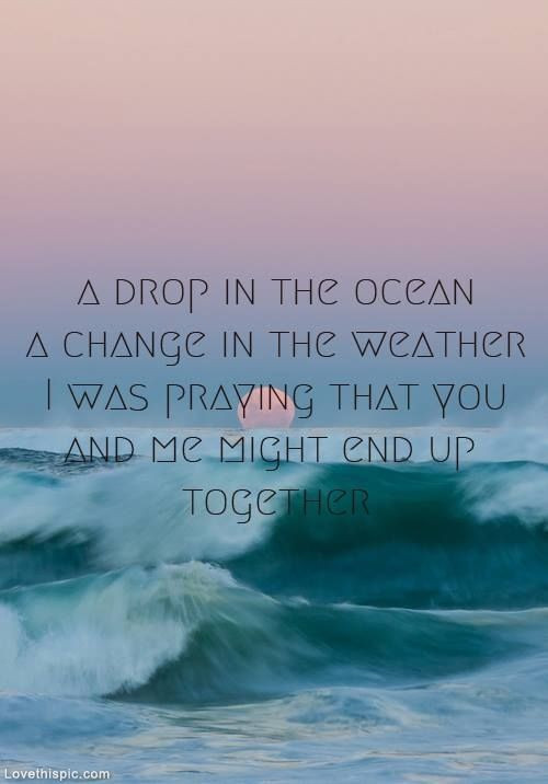Sea Love Quote  A Drop In The Ocean s and for