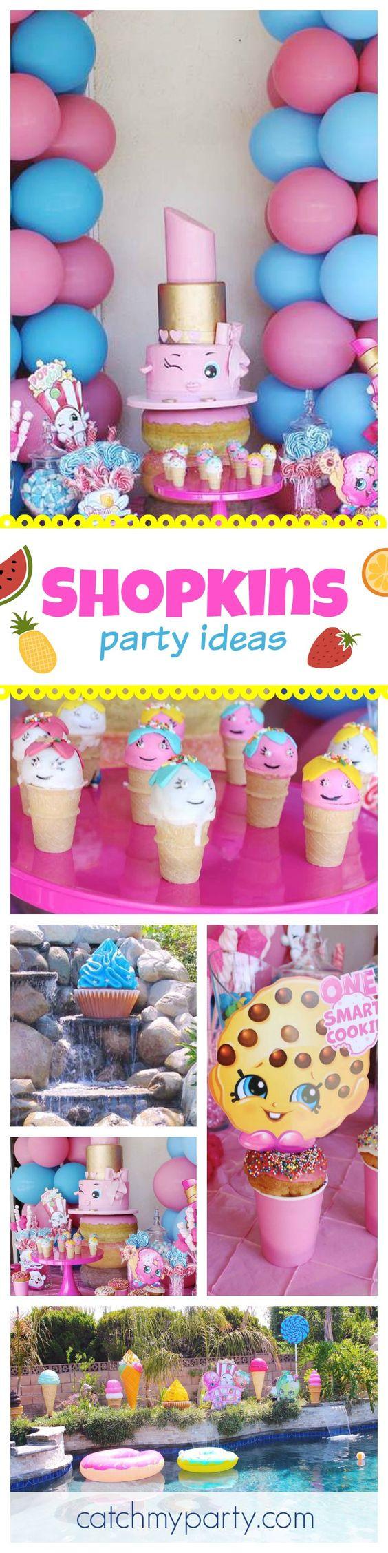 """Shopkins Pool Party Ideas  Shopkins Birthday """"Shopkins"""""""