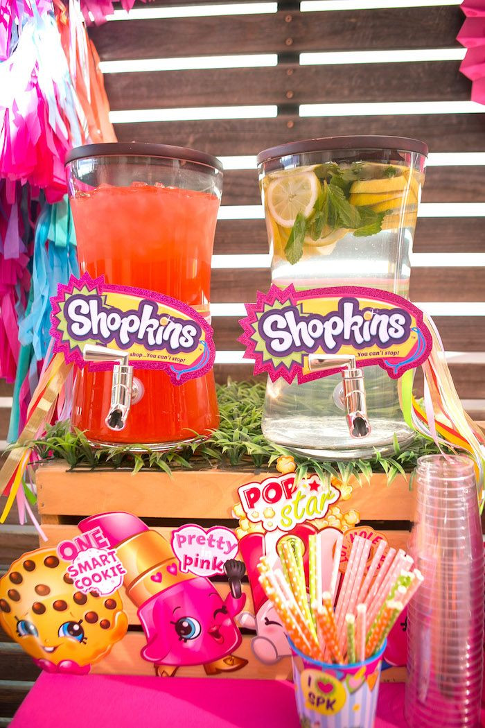 Shopkins Pool Party Ideas  Floral Shopkins Birthday Party