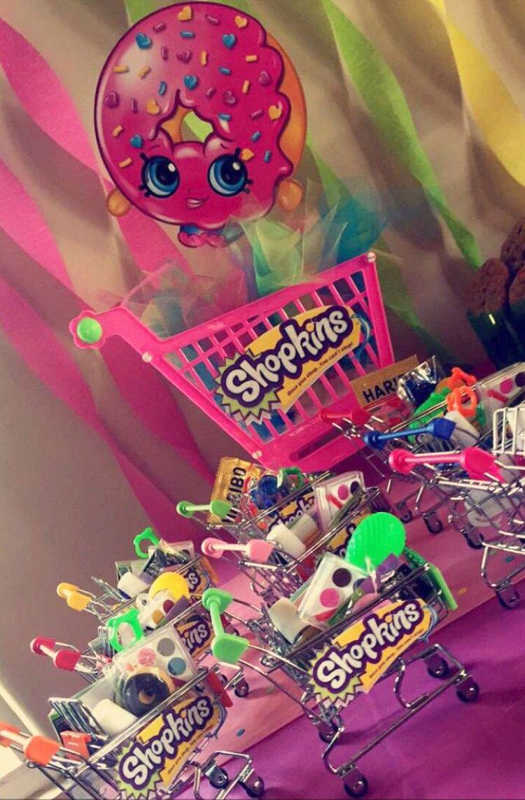 Shopkins Pool Party Ideas  Shopkins Party Favors Mini Shopping carts