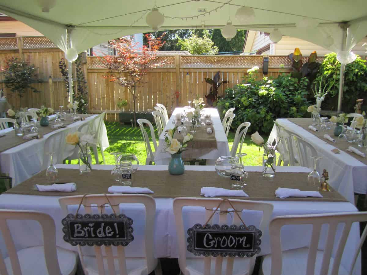 Small Engagement Party Ideas  small backyard wedding best photos Cute Wedding Ideas
