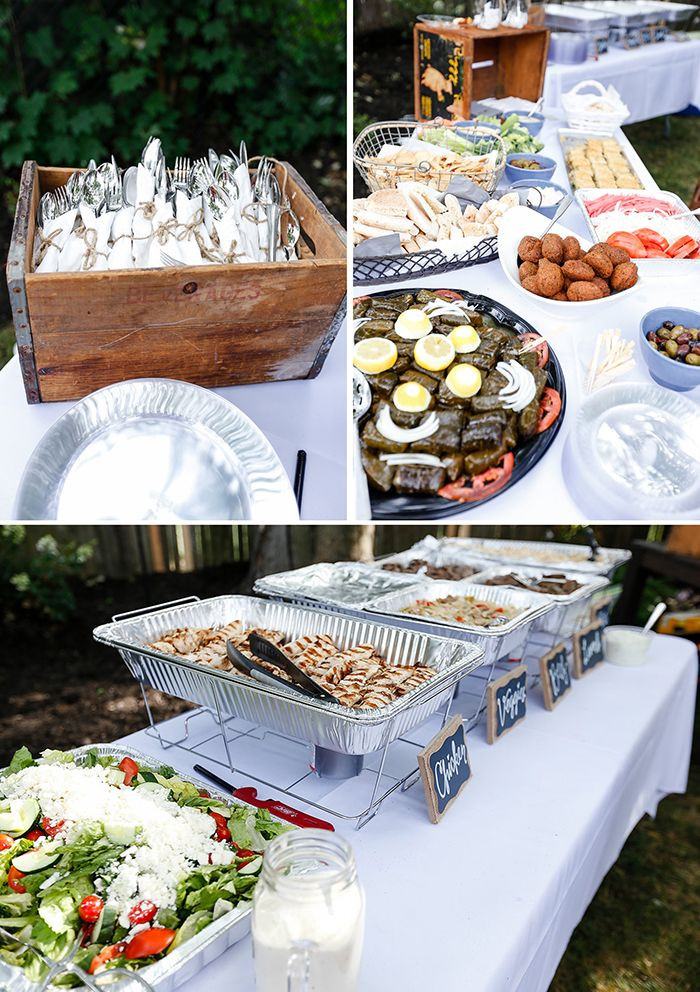 Small Engagement Party Ideas  Our Backyard Engagement Party Details The Food & Utensil