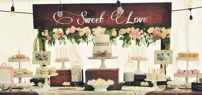 Small Engagement Party Ideas  Kara s Party Ideas Rustic Chic Engagement Party