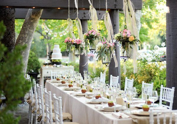 Small Engagement Party Ideas  amazing garden wedding reception decor
