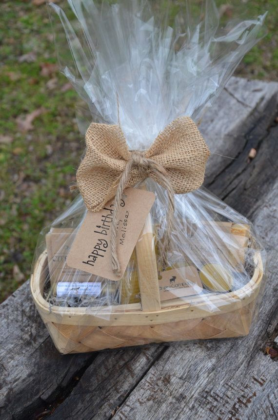 Small Gift Basket Ideas  VALENTINE S DAY Homemade Gift Basket natural candles