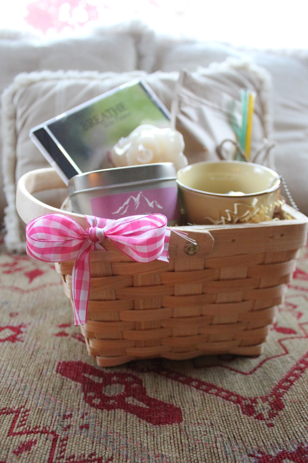 Small Gift Basket Ideas  Breast Cancer Yoga Wellness Products Breast Cancer Gift
