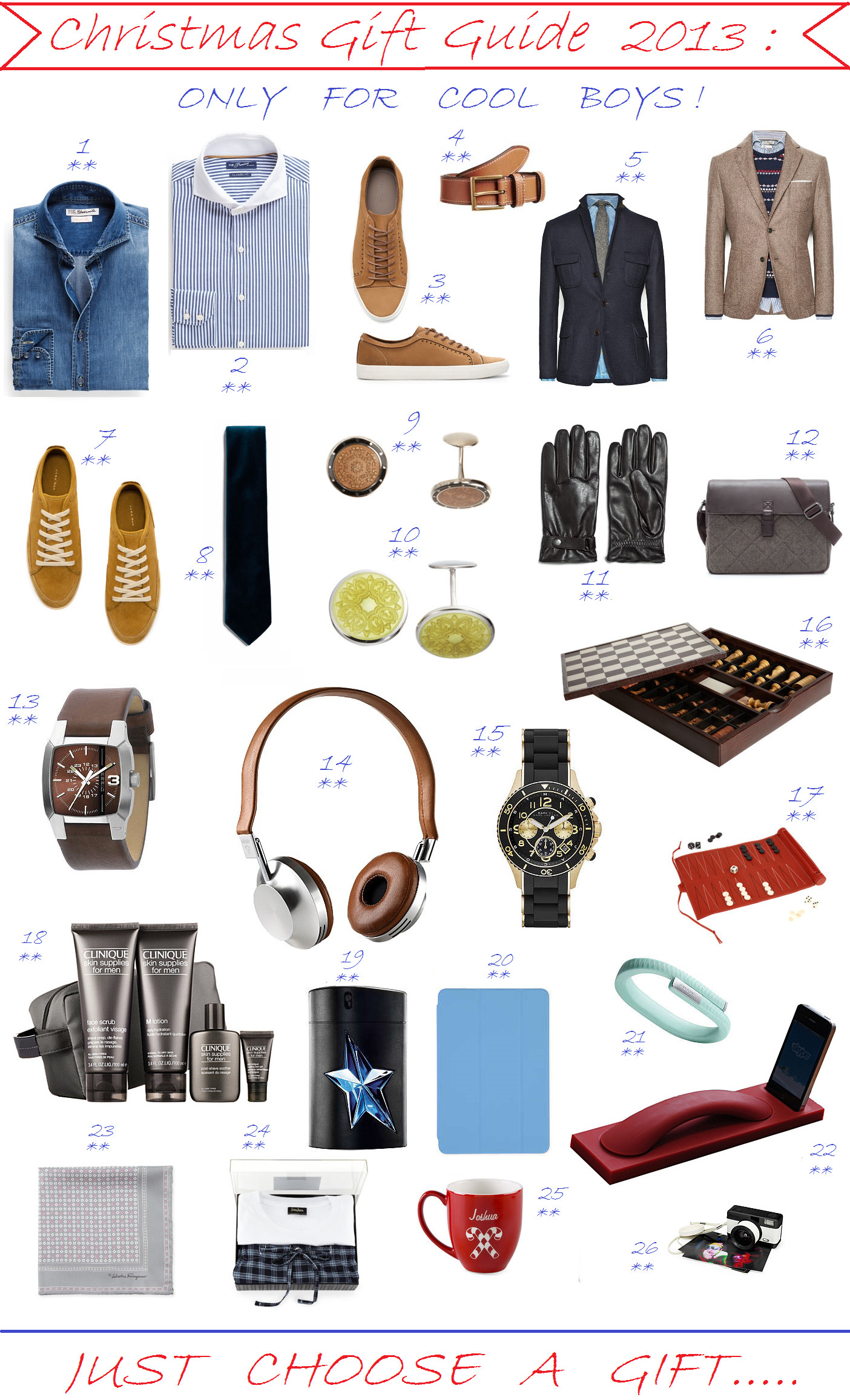 Small Gift Ideas For Boys  CHRISTMAS GIFT GUIDE 2013 ONLY FOR COOL BOYS