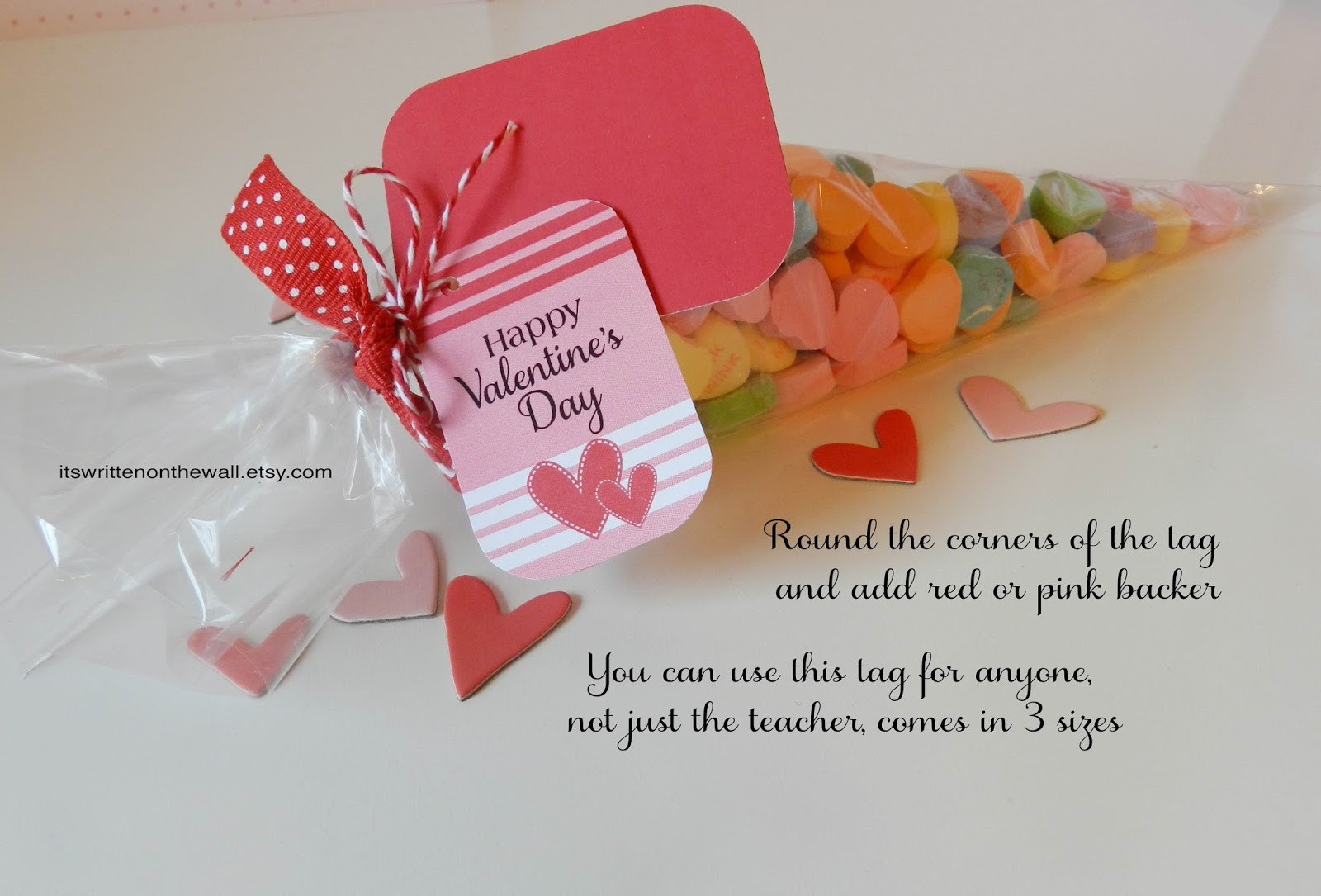 Small Valentines Gift Ideas  It s Written on the Wall Valentine s Day Gift Tags for