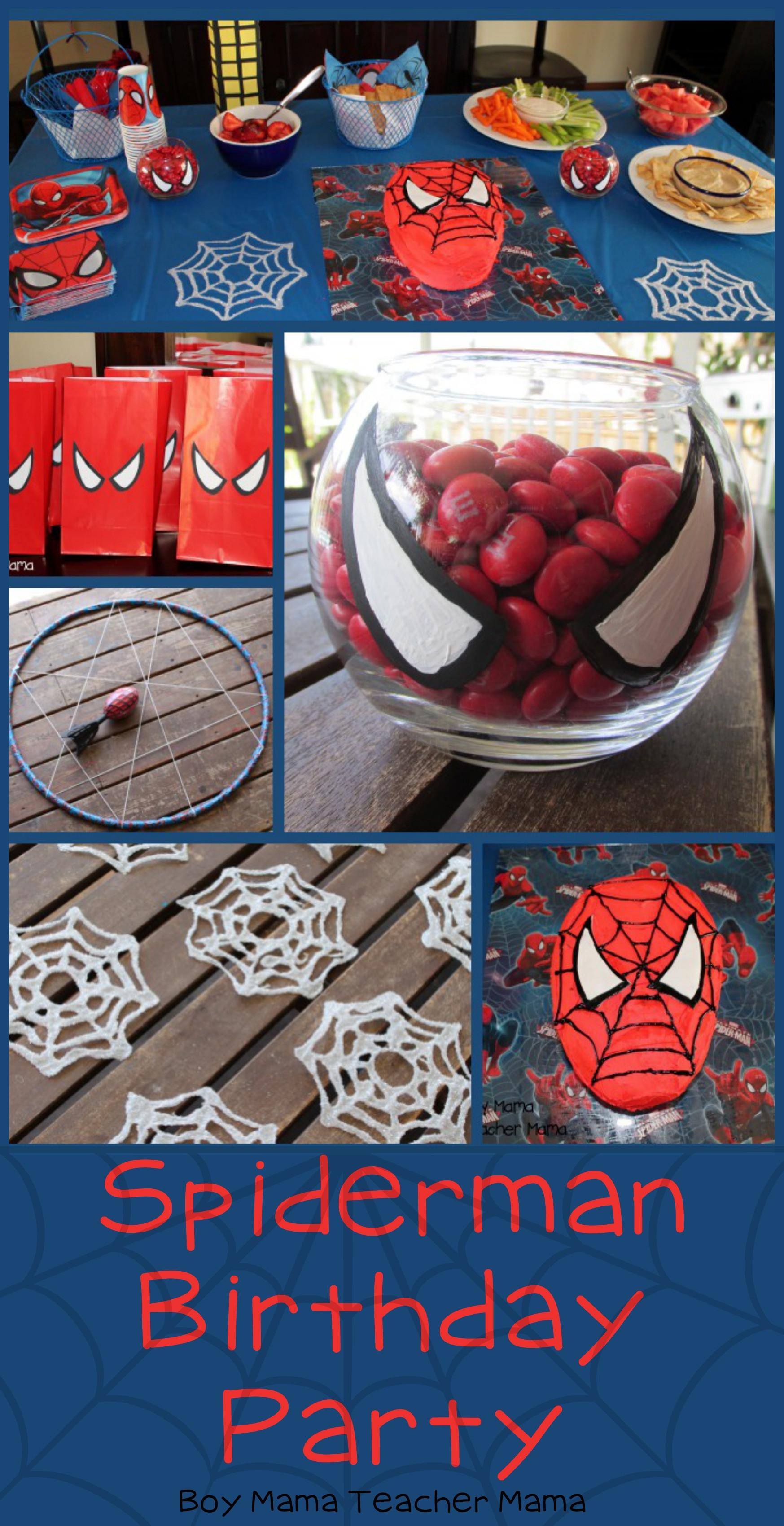 Spiderman Birthday Party Games  Boy Mama Spiderman Birthday Party Boy Mama Teacher Mama