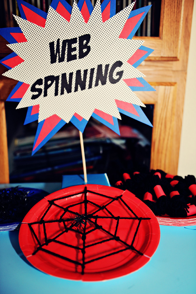 Spiderman Birthday Party Games  The Party Wall Spiderman Birthday Party Part 4 Decorations