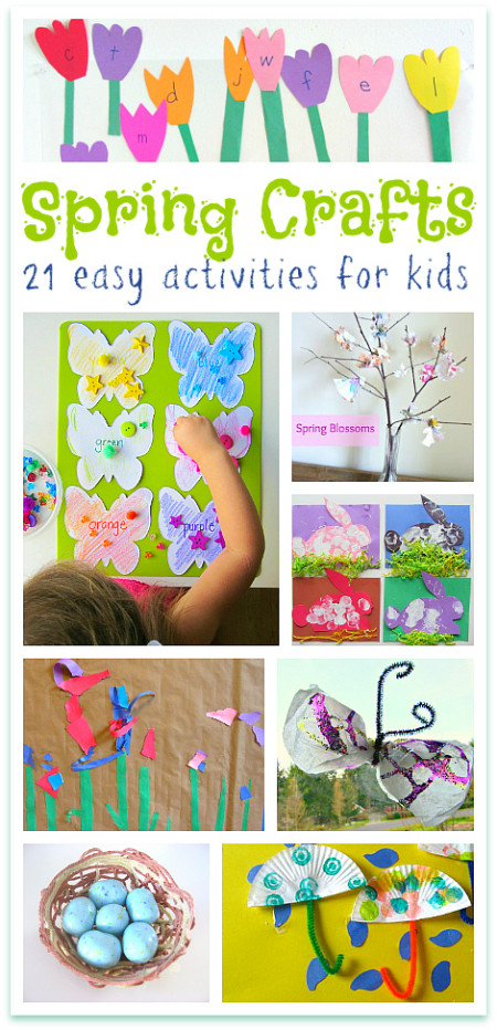 Spring Craft Ideas For Kids  Spring Crafts for Kids & Preschoolers No Time For Flash