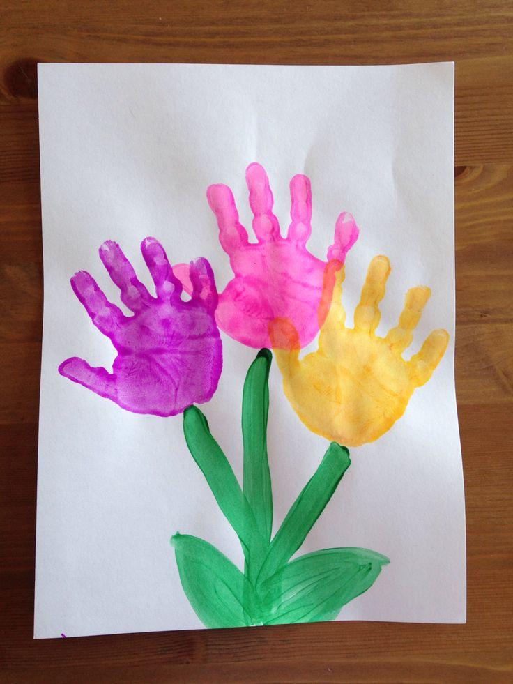 Spring Crafts Preschool  Handprint Flower Craft Spring Craft Preschool Craft