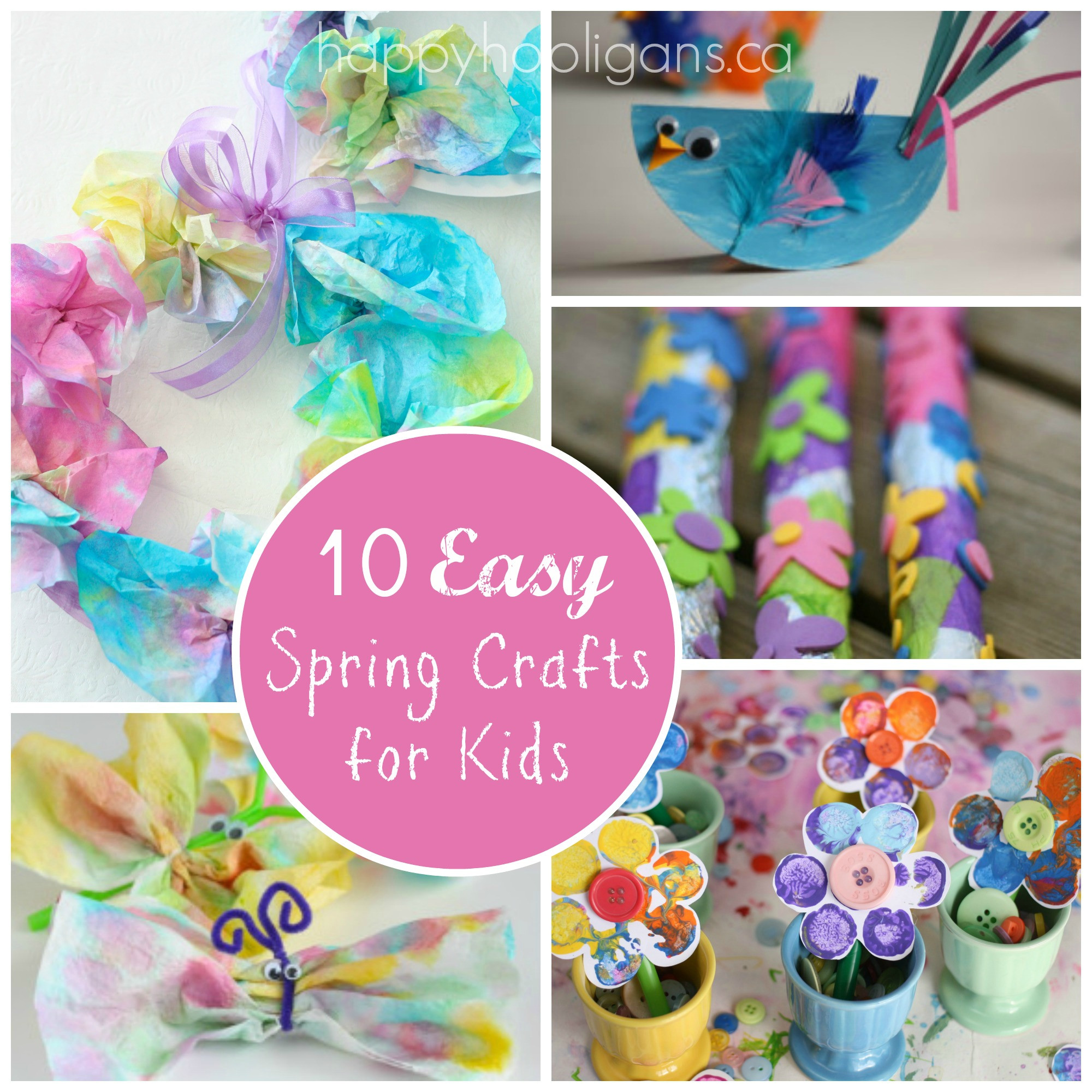 Spring Crafts Preschool  Spring Break Kids Activities Round Up The Idea Room