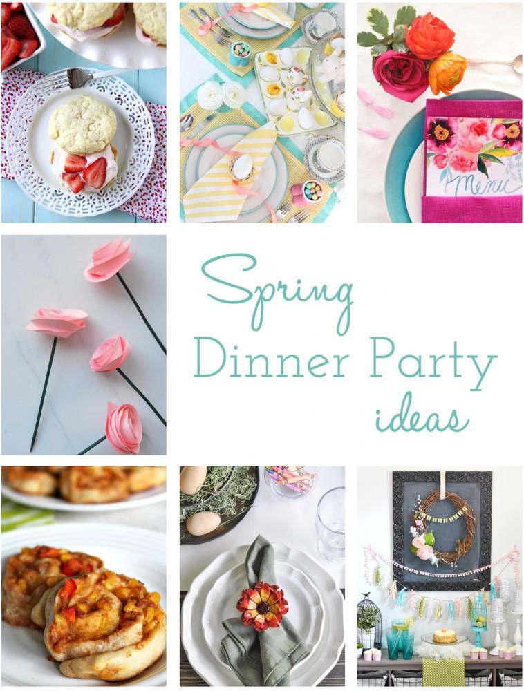 Spring Dinner Party Ideas  A Fresh & Happy Spring Dessert Table More Spring Dinner