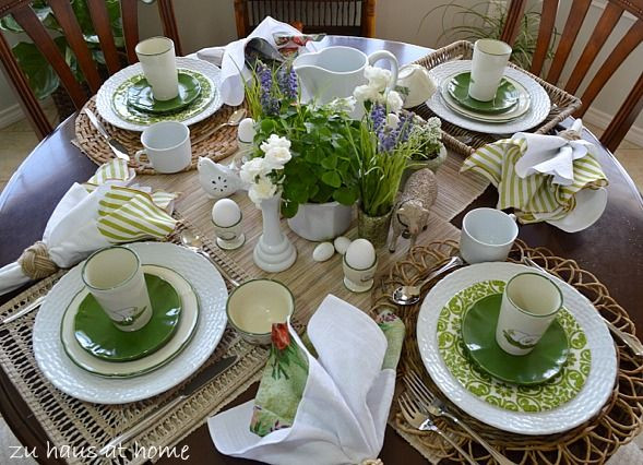 Spring Dinner Party Ideas  Mix and Match Spring Tablescape by Zu Haus at Home