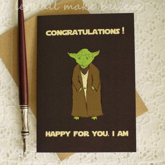 Star Wars Graduation Quotes  Graduation Card Star Wars Yoda Inspired