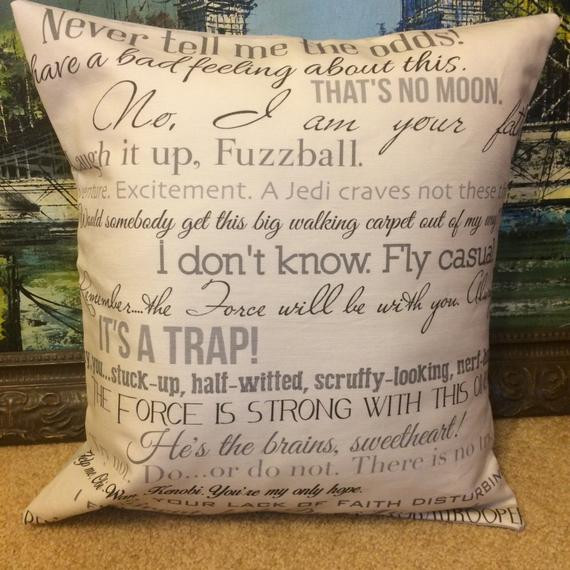 Star Wars Graduation Quotes  Star Wars movie quote pillow COVER ONLY by CraftEncounters