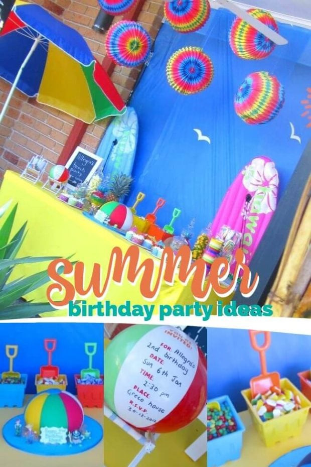 Summer Birthday Party Ideas For 4 Year Old Boy  A Joint Summer Birthday Pool Party Spaceships and Laser