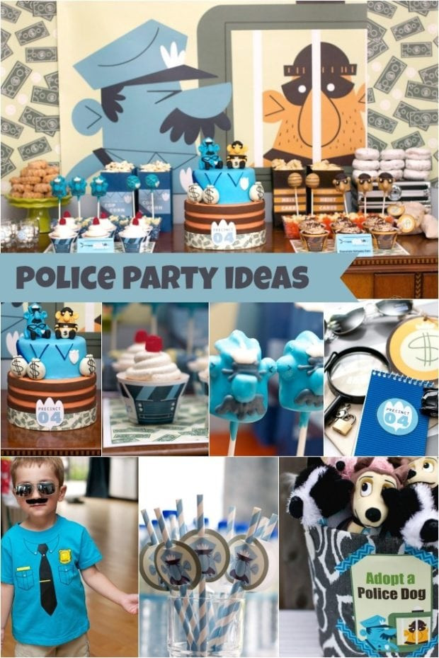Summer Birthday Party Ideas For 4 Year Old Boy  The Heist Sam s Police Themed 4th Birthday party