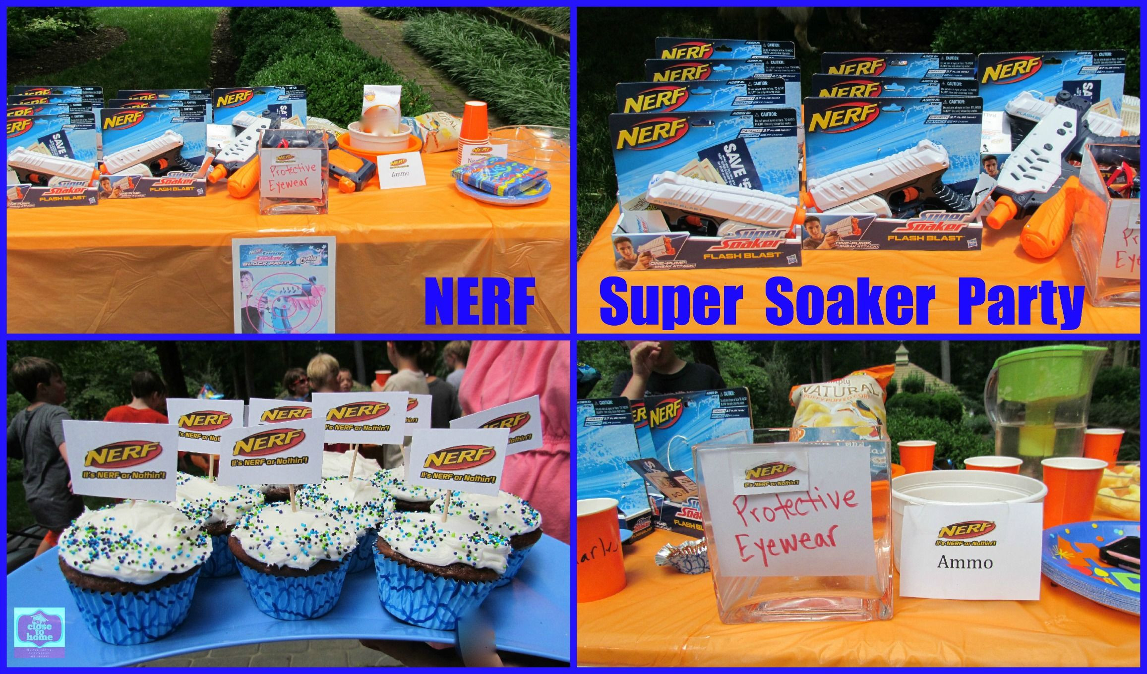 Summer Birthday Party Ideas For 4 Year Old Boy  Summer Birthday Party Ideas NERF Super Soaker