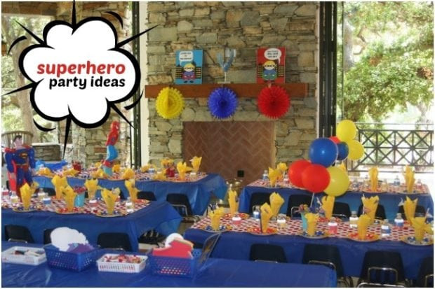 Summer Birthday Party Ideas For 4 Year Old Boy  Superhero Themed Birthday Party for 4 Year Old Boys