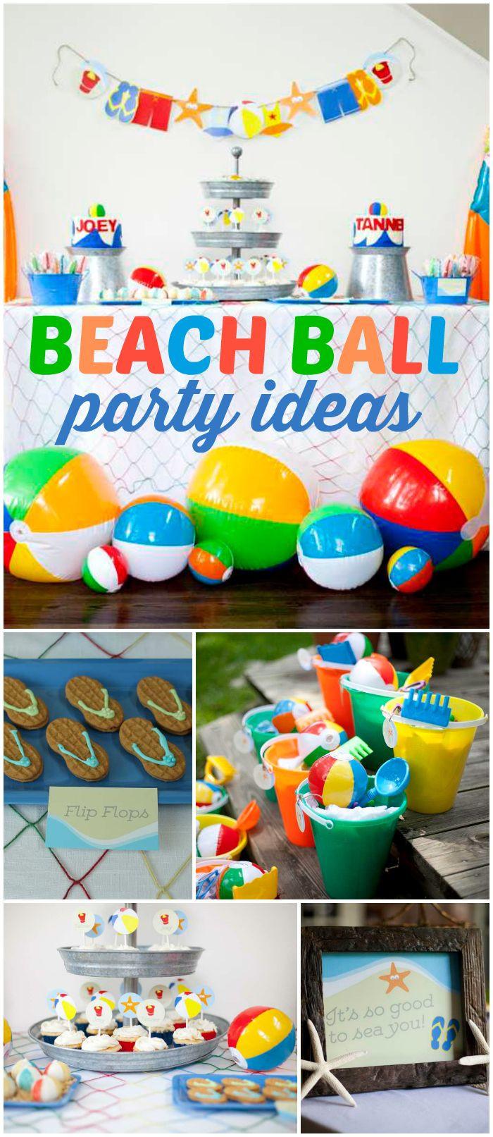 Summer Birthday Party Ideas For Boys  Best 25 Kids beach party ideas on Pinterest