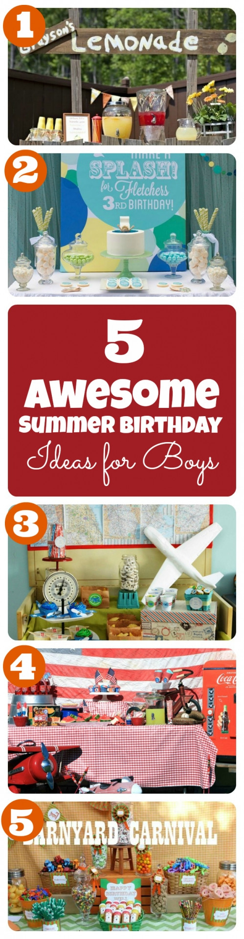 Summer Birthday Party Ideas For Boys  Summer Birthday Party Theme Ideas for Boys