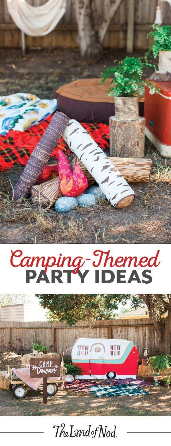 Summer Birthday Party Ideas For Boys  Throw a camping themed summer birthday party for your kids