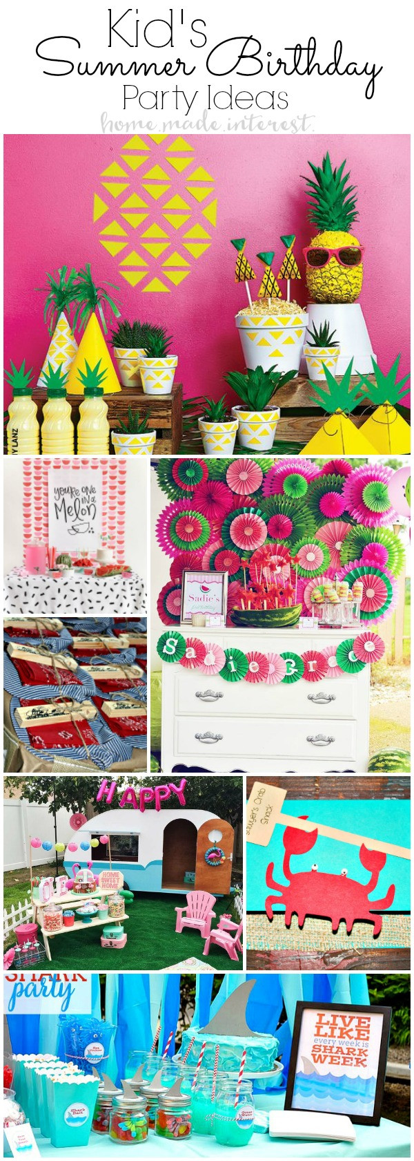 Summer Birthday Party Ideas For Boys  Summer Birthday Party Ideas for Kids Home Made Interest