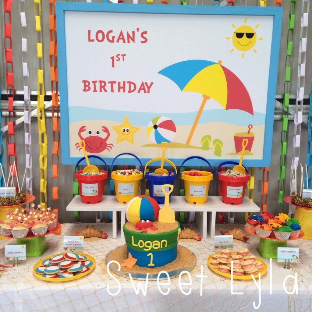 Summer Birthday Party Ideas For Boys  Beach themed 1st Birthday party ideas for a cool indoors