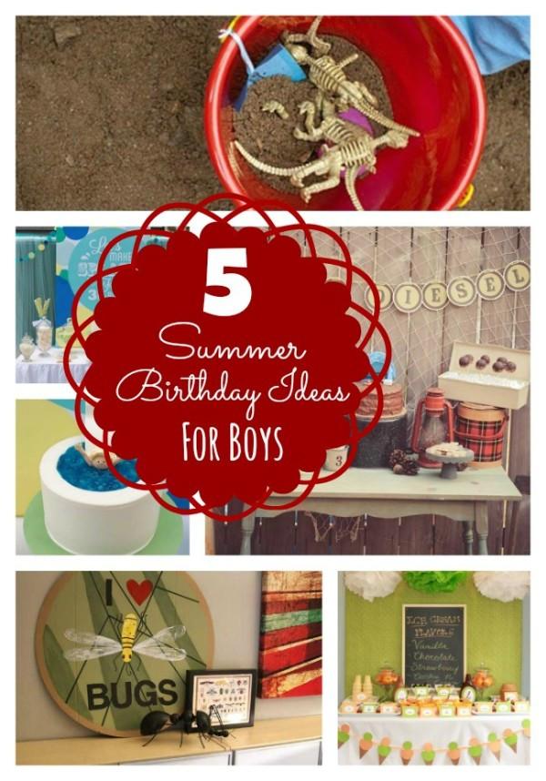 Summer Birthday Party Ideas For Boys  Summer Birthday Ideas for Boys Bloom Designs