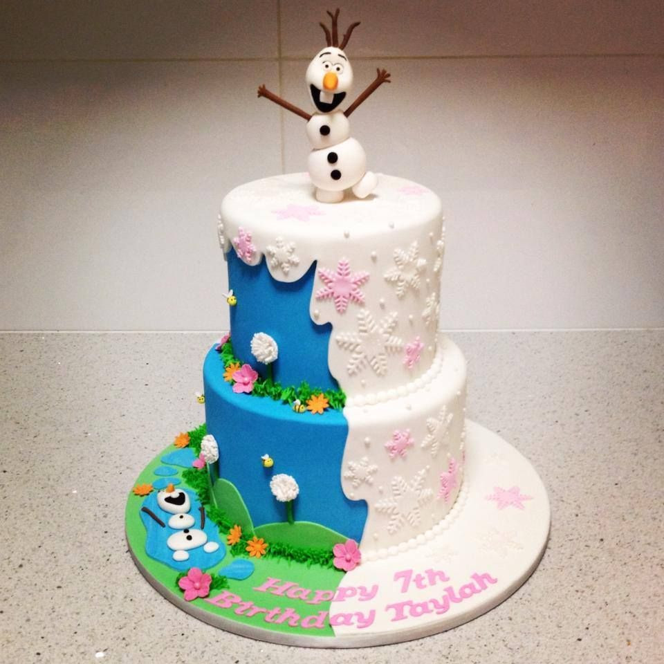 Summer In Winter Party Ideas  Frozen cake Olaf in the Summer and Olaf in the Winter