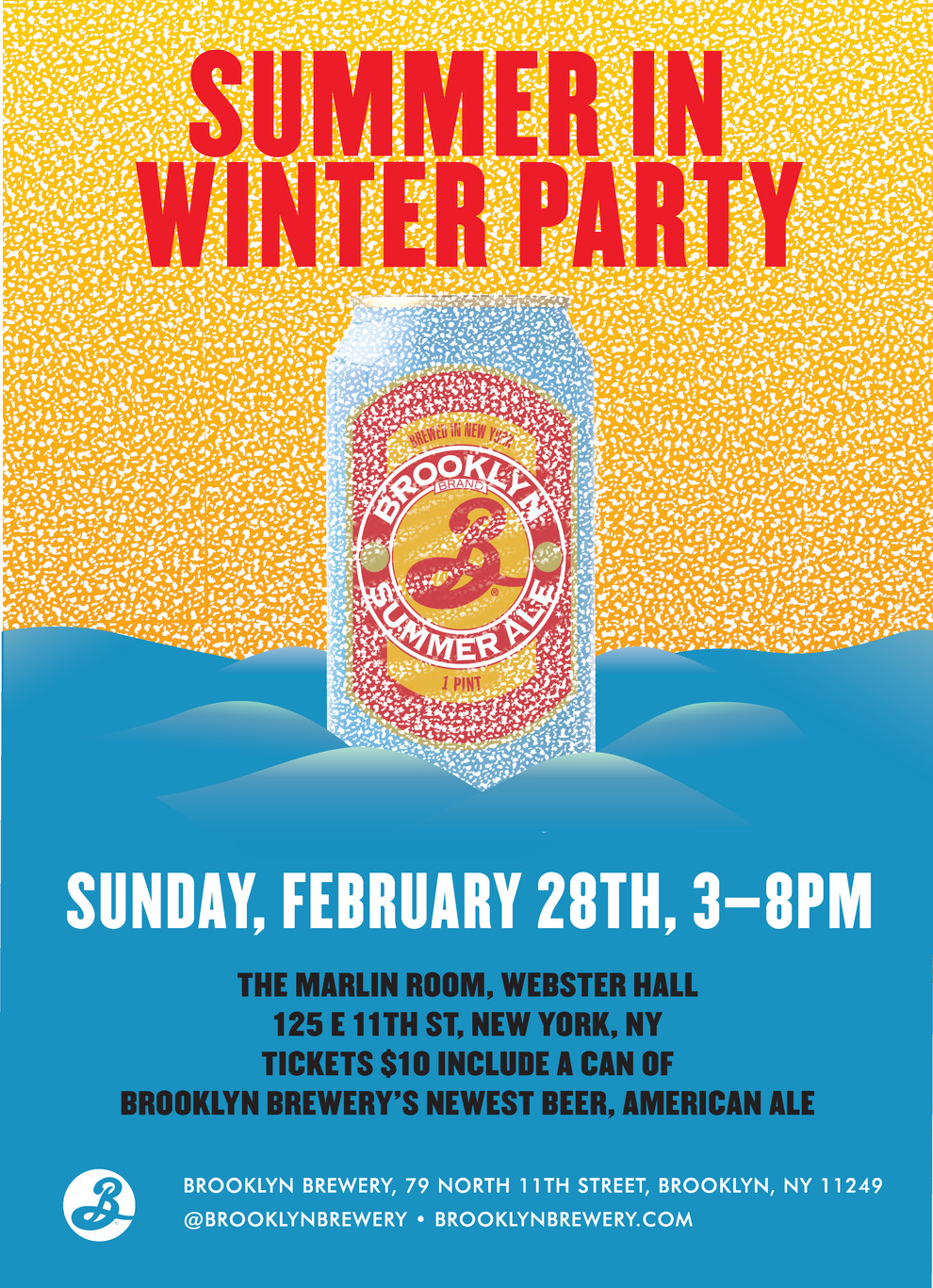 Summer In Winter Party Ideas  Summer in Winter Party NYC Events Brooklyn Brewery