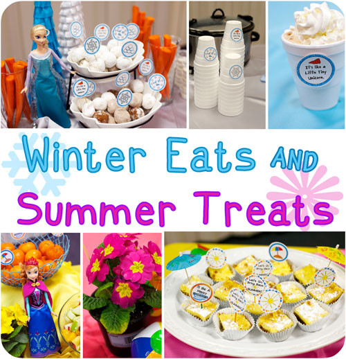 Summer In Winter Party Ideas  Frozen Inspired Party Food Winter Eats and Summer Treats