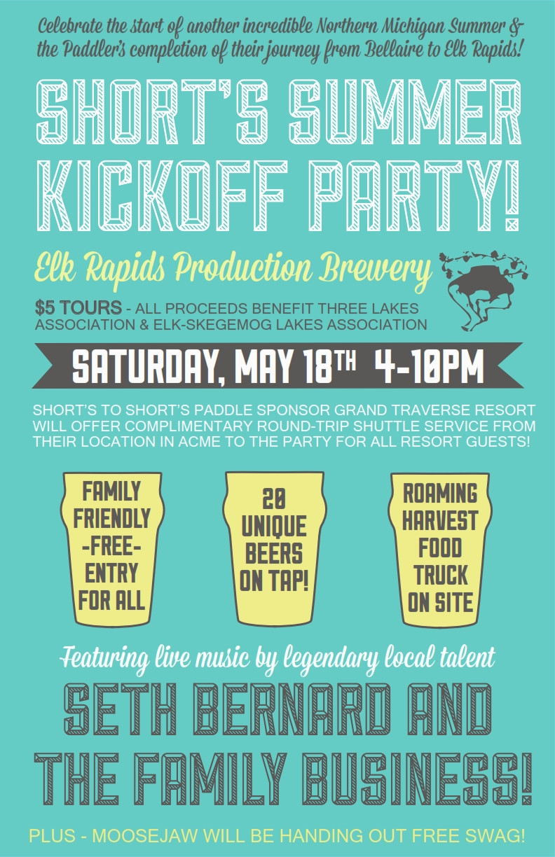 Summer Kickoff Party Ideas  Short's Summer Kickoff Party – Elk Rapids Short s