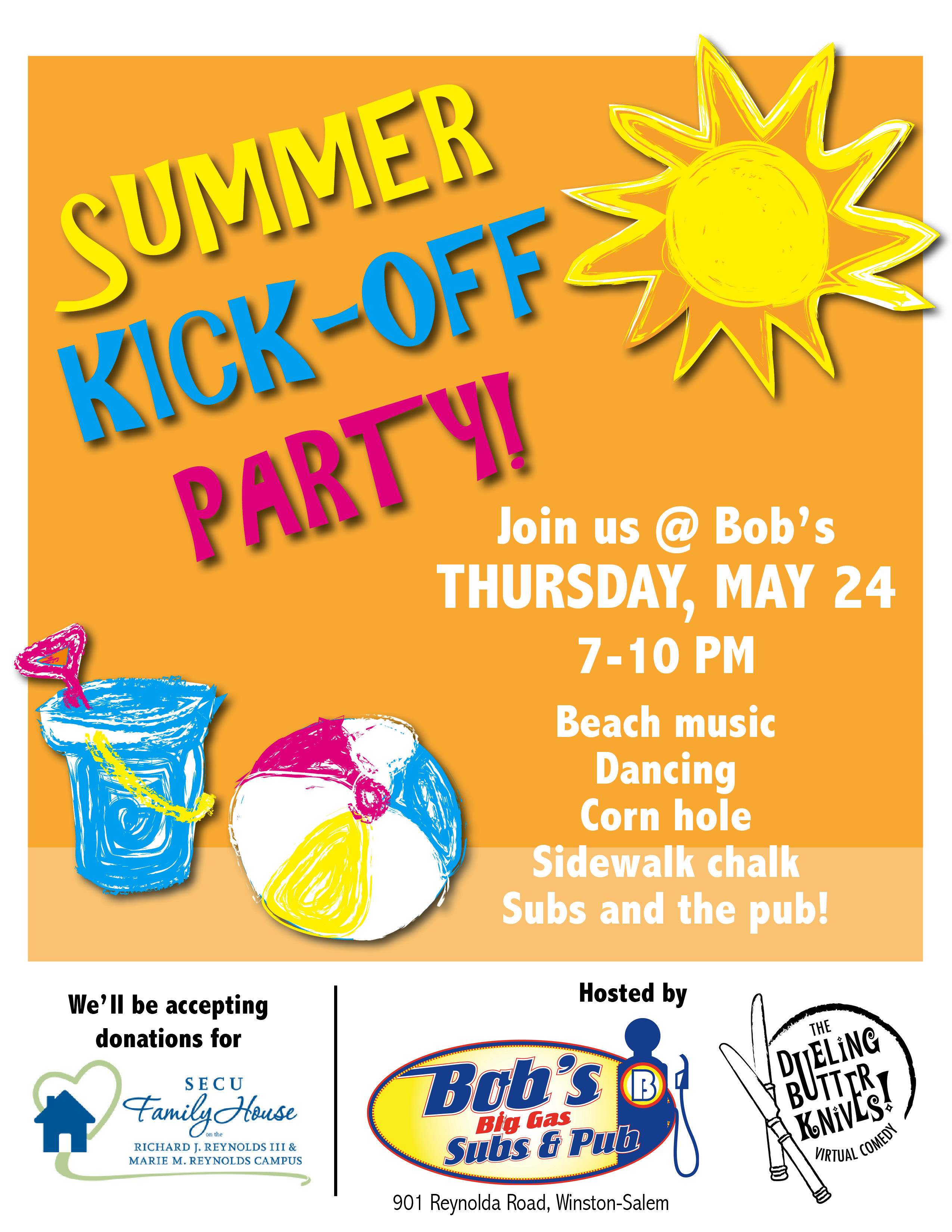 Summer Kickoff Party Ideas  Summer Kick f Party with Bob s Big Gas Subs and Pub
