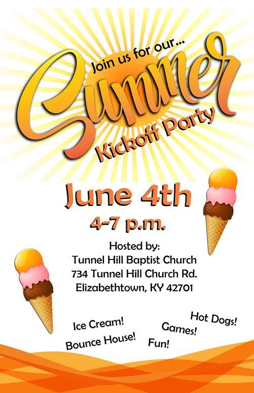 Summer Kickoff Party Ideas  Summer Kickoff Party – Tunnel Hill Baptist Church
