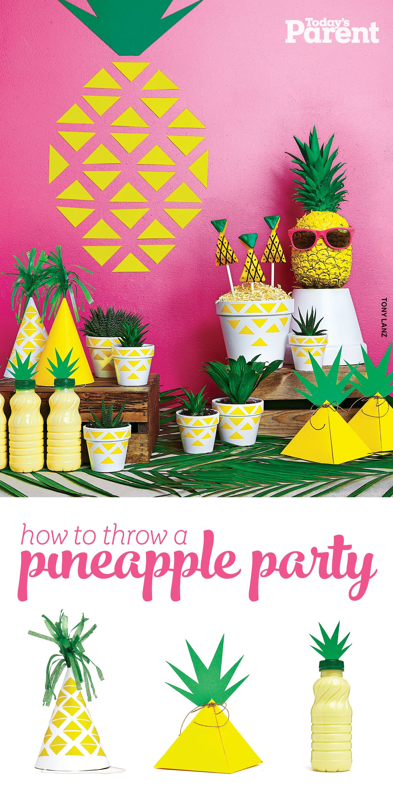 Summer Theme Party Ideas  How to throw a pineapple party
