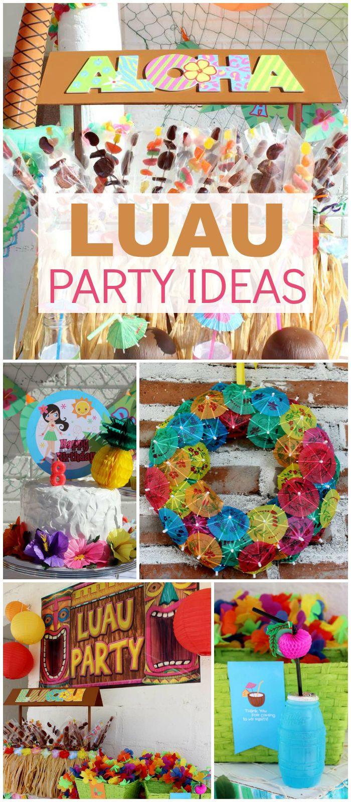 "Summer Theme Party Ideas  Luau Hawaiian Birthday ""Carolina s Luau"""